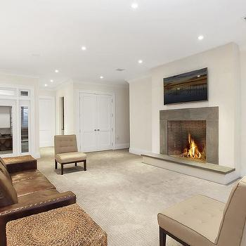 Basement Fireplace Design Ideas