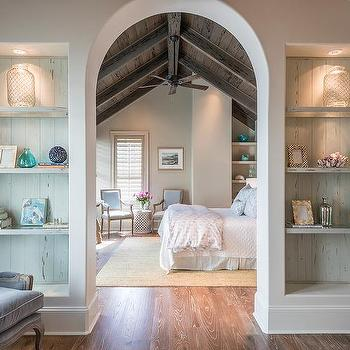 Arched Staircase Doorway With Sconces Transitional