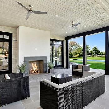 Black French Doors Patio folding glass patio doors - transitional - home exterior