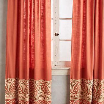 Zoe Embroidered Multicolored Curtain