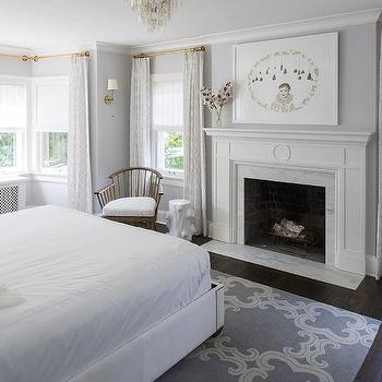 master bedroom fireplace with olympian white danby marble