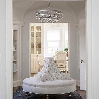 Glass Entryway Table round foyer table with glass and lucite tiered chandelier