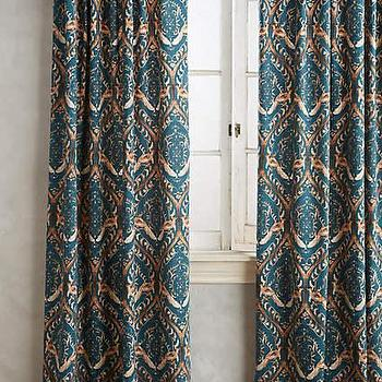 Faux Silk Signature Teal Curtain Panel 50 In X 96 In