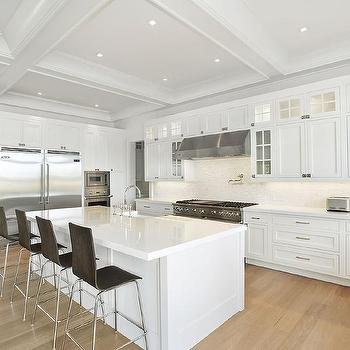 White Kitchen Cabinets Blonde Wood Floors Design Ideas