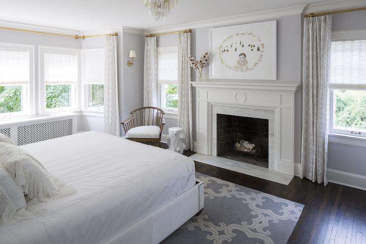 Master Bedroom Fireplace with Olympian White Danby Marble ...