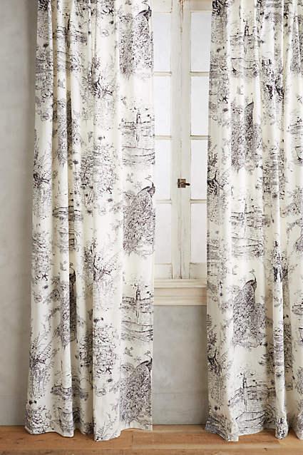 Henny Rand Black White Pattern Curtains