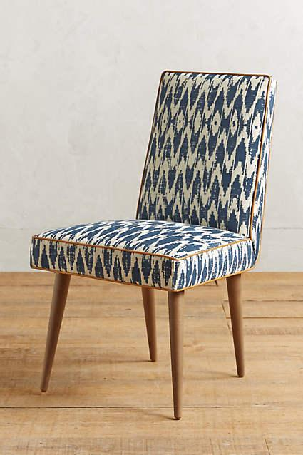Exceptional Ikat Zolna Chair In Navy And White