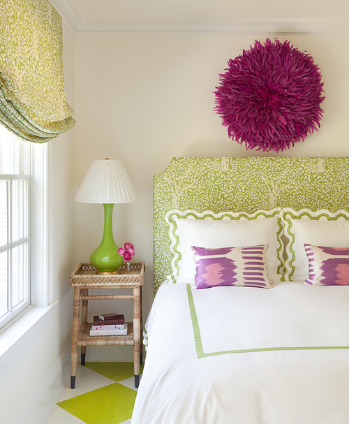 Green and Brown Bedroom - Contemporary - bedroom - Diane ...