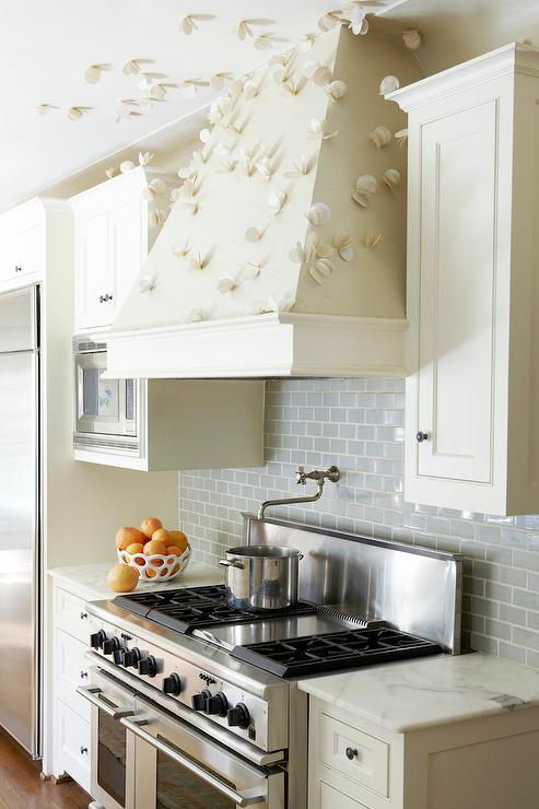 ivory and grey kitchen with subway tiles contemporary kitchen