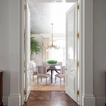 french dining room with purple dining chairs - U Shape Dining Room 2015