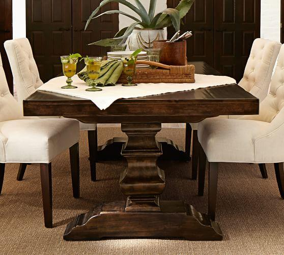 Search Trestlediningtablejpeg - Pottery barn trestle dining table