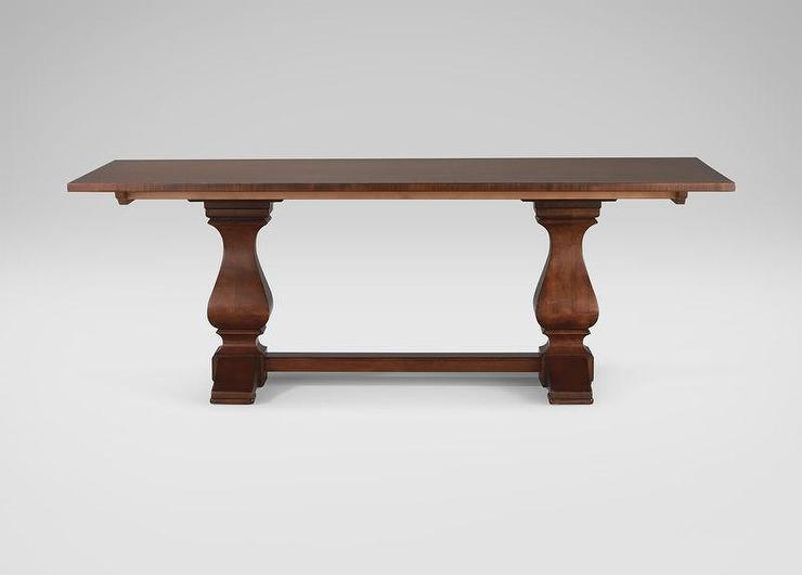 Ethan Allen Cameron Dining Table In Brown