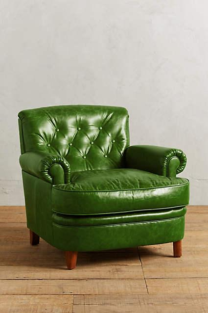Leather Kimmeridge Armchair In Green