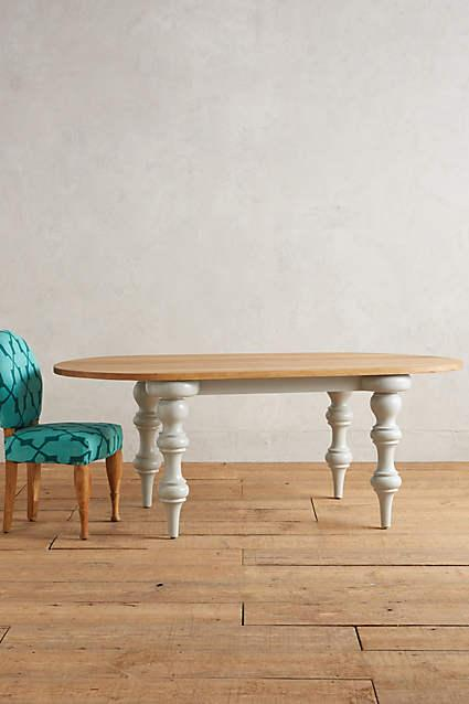 addison white oval dining table