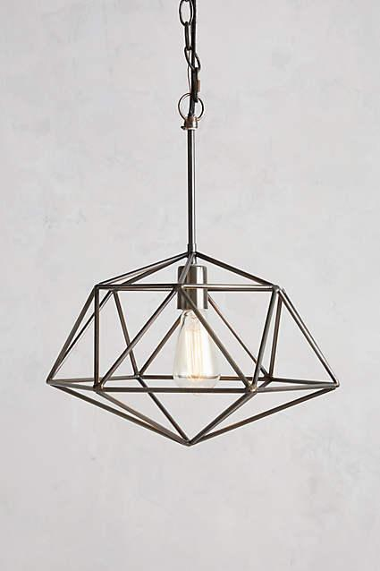 Diamond Euclidean Pendant Lamp In Pewter