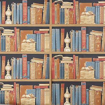 baroque white books library wallpaper