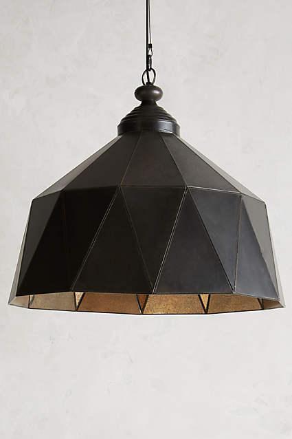 Faceted Steel Black Pendant Lamp
