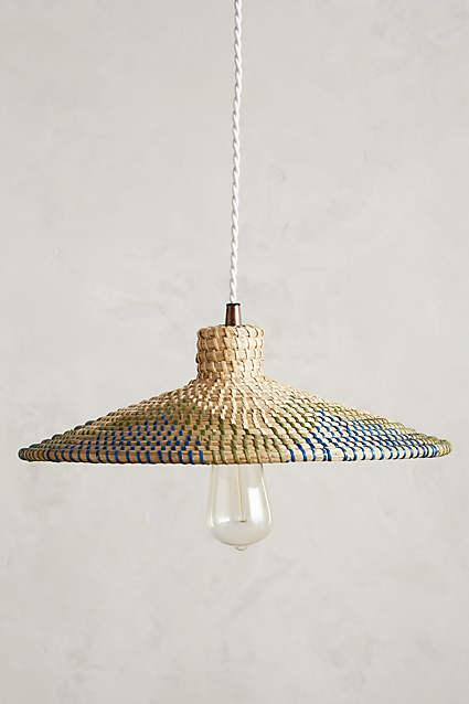 Kirkland Woven Rattan Dome Pendant Light