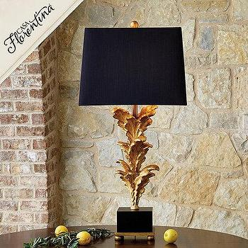 Casa Florentina Boboli Black And Gold Table Lamp