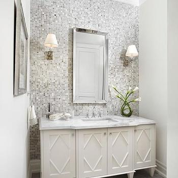Grey bathroom accent wall design ideas for Bathroom accent ideas