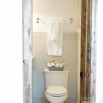 Brass and Lucite Double Towel Holder Over Toilet. Towel Rack Above Toilet Design Ideas