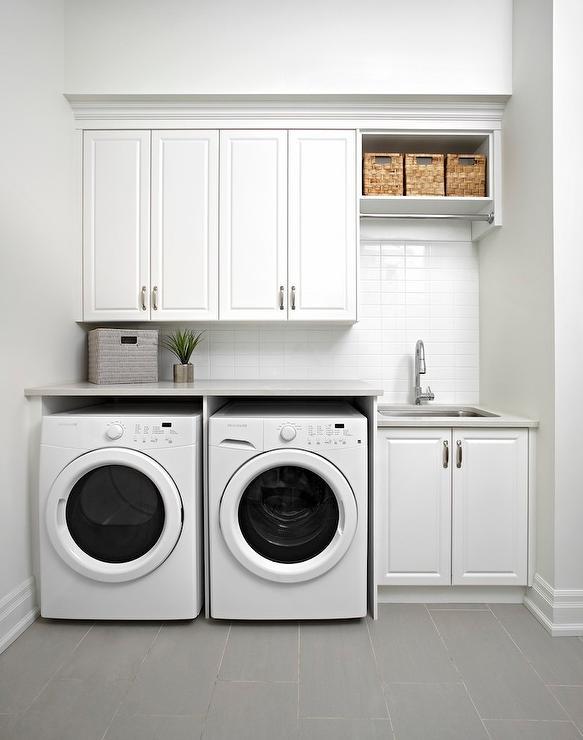 Raised Panel Laundry Room Cabinets Design Ideas
