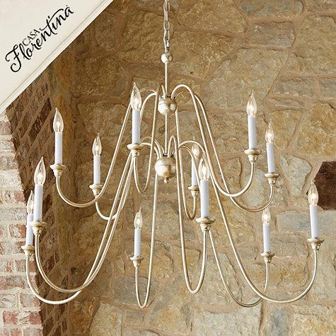 Casa Florentina Arielle Chandelier In White And Silver