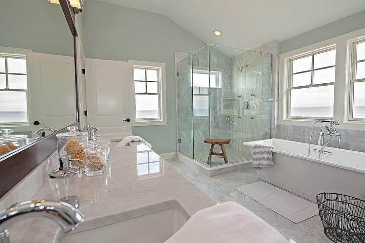 Coastal Bathroom Tile Ideas Part - 40: Spa Like Coastal Bathroom View Full Size