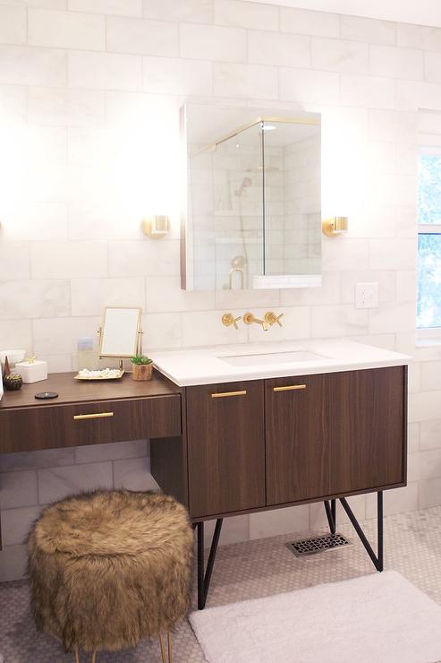 Brown and gold bathroom design contemporary bathroom for Brown and gold bathroom sets