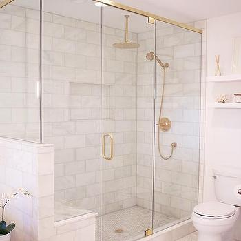 gold rain shower head. Glass and Brass Shower Enclosure with Gold Rain Head Vibrant French Design Ideas