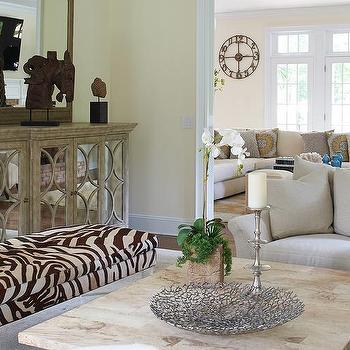 Zebra Living Room Bench Design Ideas