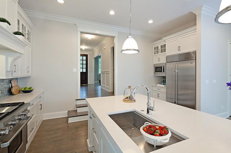 Sunken Kitchen Transitional Kitchen Lauren Shadid Architecture
