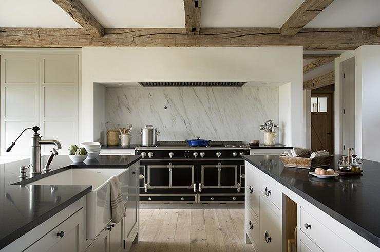 Exceptional European Kitchen With La Cornue CornuFe Range