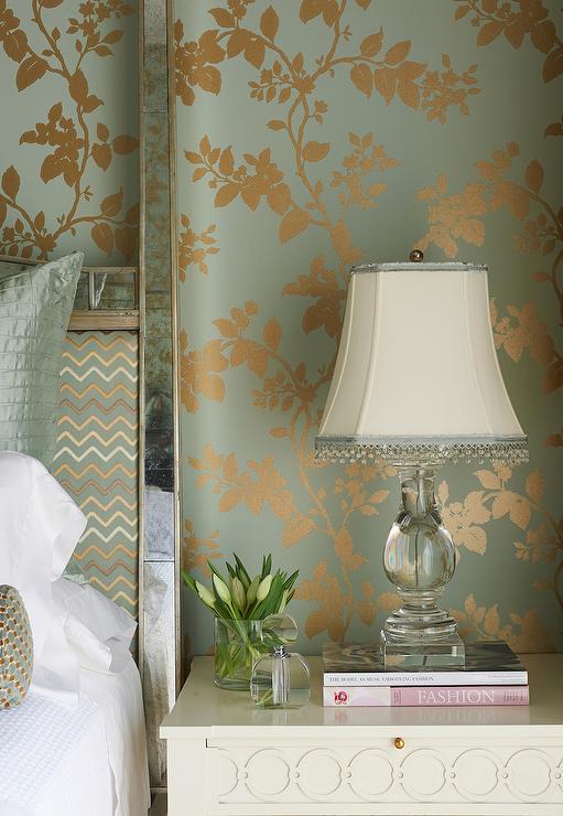 blue and gold wallpaper design ideas. Black Bedroom Furniture Sets. Home Design Ideas