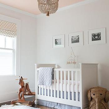 Beaded nursery chandelier design ideas blue and pink nursery with beaded chandelier aloadofball Choice Image