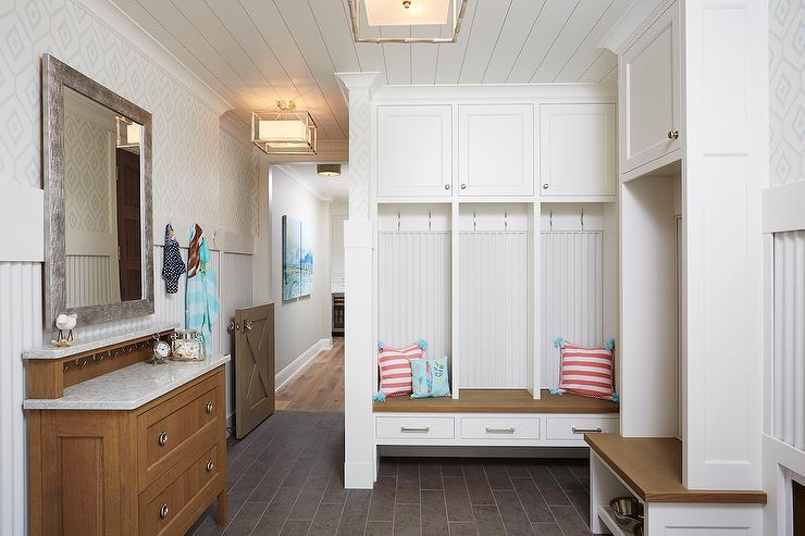 Gray Dutch Mudroom Door
