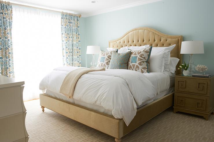 blue and beige bedrooms beige and blue bedroom with key nightstand 14606