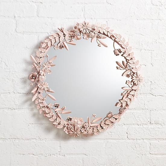 Pink Flower Crown Wall Mirror