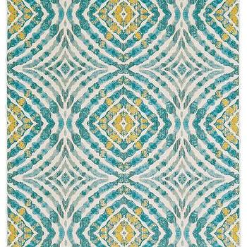 Teal And Yellow Blend Rug In Lagoon Design By Bd Fine