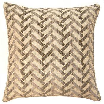 Linen Beige And White Chevron Throw Pillow By Ccduexvie On