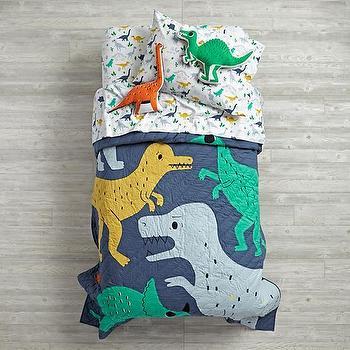 Blue Dino Duvet Cover