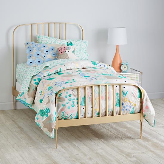 Gold Larkin Metal Bed