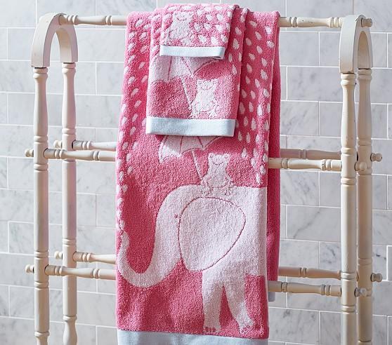 elephant pink bath towel collection - Pink Bathroom Towels