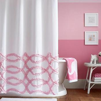 Threshold Pink Shower Curtain
