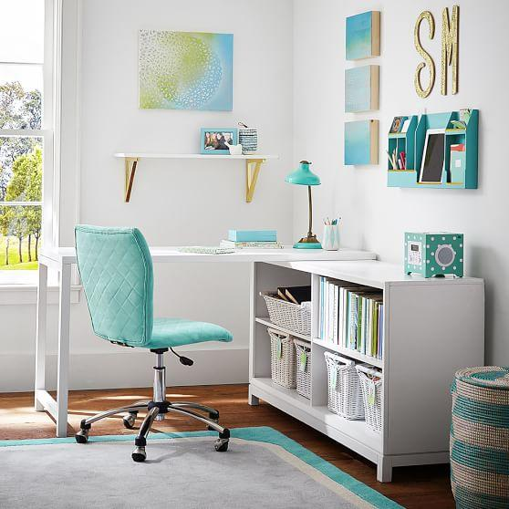 White rowan classic corner desk - Amazing teenage girl desks ...