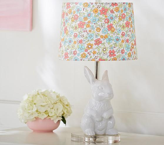Gold Gilded Hare Lamp Ensemble