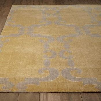 Nuloom Handmade Modern Grey And Yellow Ikat Rug
