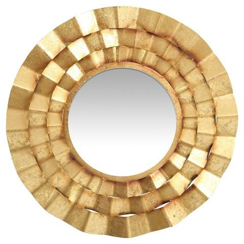 decorative wall vegas mirror in gold
