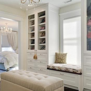 Walk In Closet Window Seat Bench Design Ideas