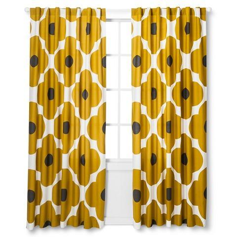 Yellow Orla Kiely Window Panel